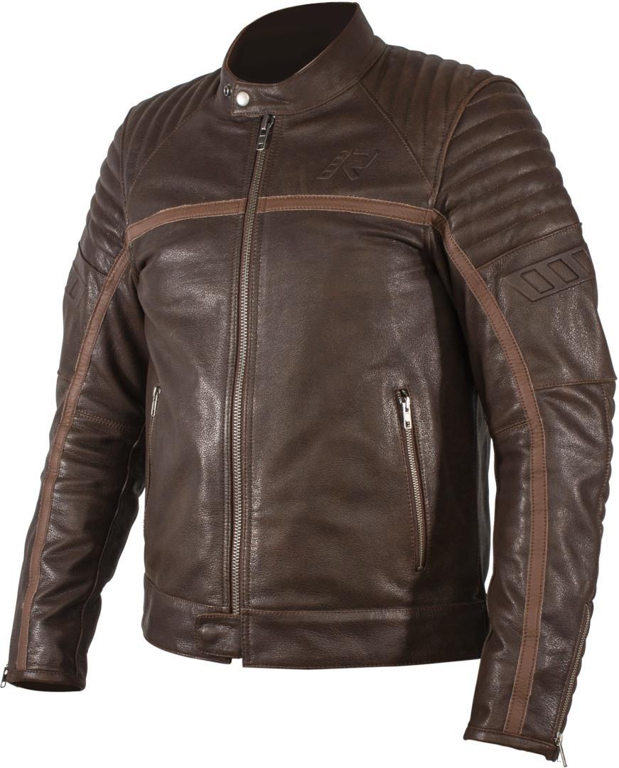 Rukka Yorkton Motorrad Lederjacke, braun, Größe 58, braun, Größe 58