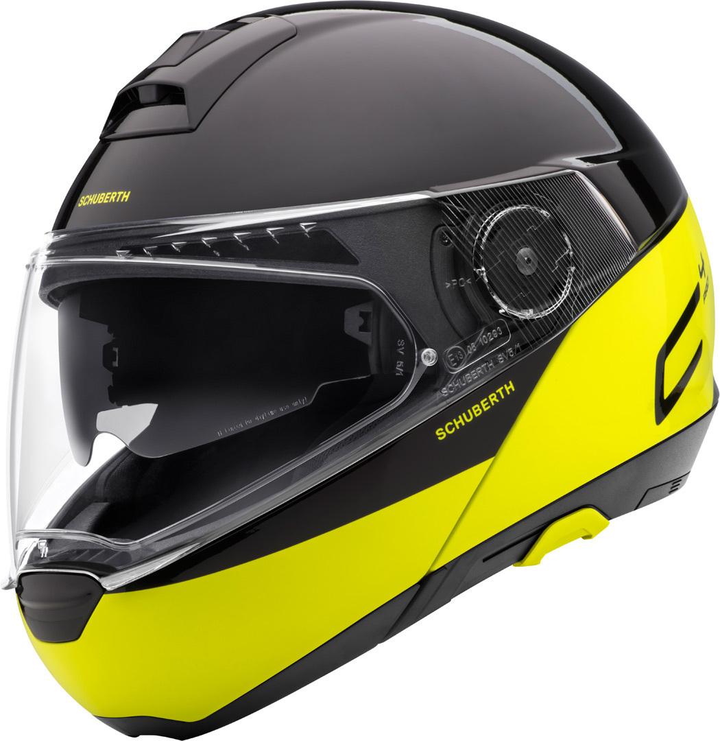 Schuberth C4 Pro Swipe Klapphelm, schwarz-gelb, Größe XL, schwarz-gelb, Größe XL