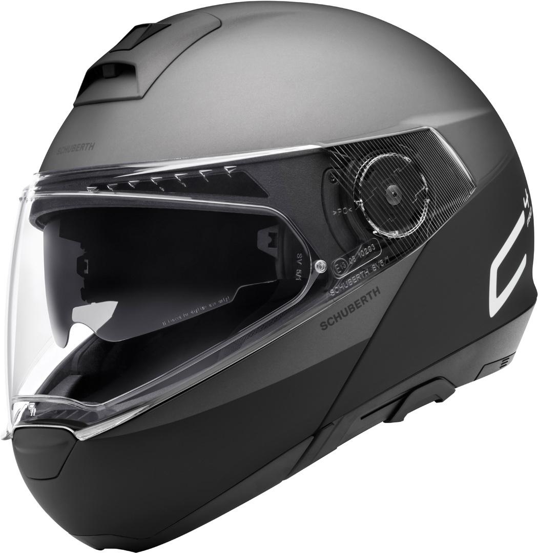 Schuberth C4 Pro Swipe Klapphelm, schwarz-grau, Größe 2XL, schwarz-grau, Größe 2XL