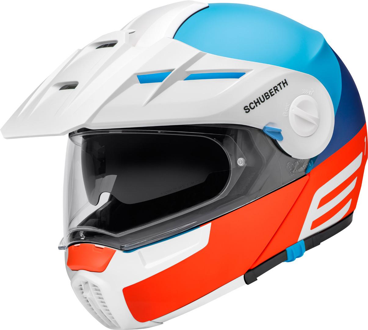 Schuberth E1 Cut Klapphelm, weiss-blau-orange, Größe XS, weiss-blau-orange, Größe XS