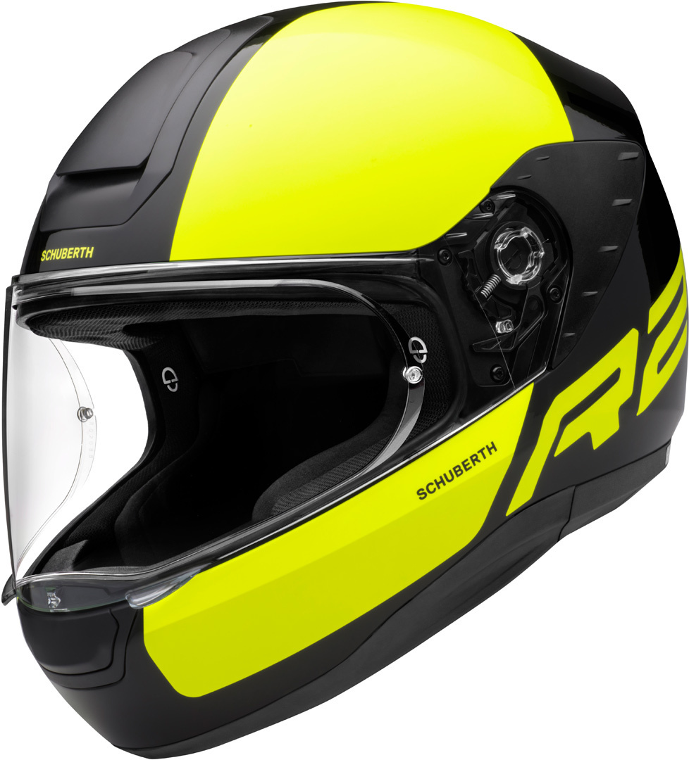 Schuberth R2 Dyno Helm, schwarz-gelb, Größe L, schwarz-gelb, Größe L