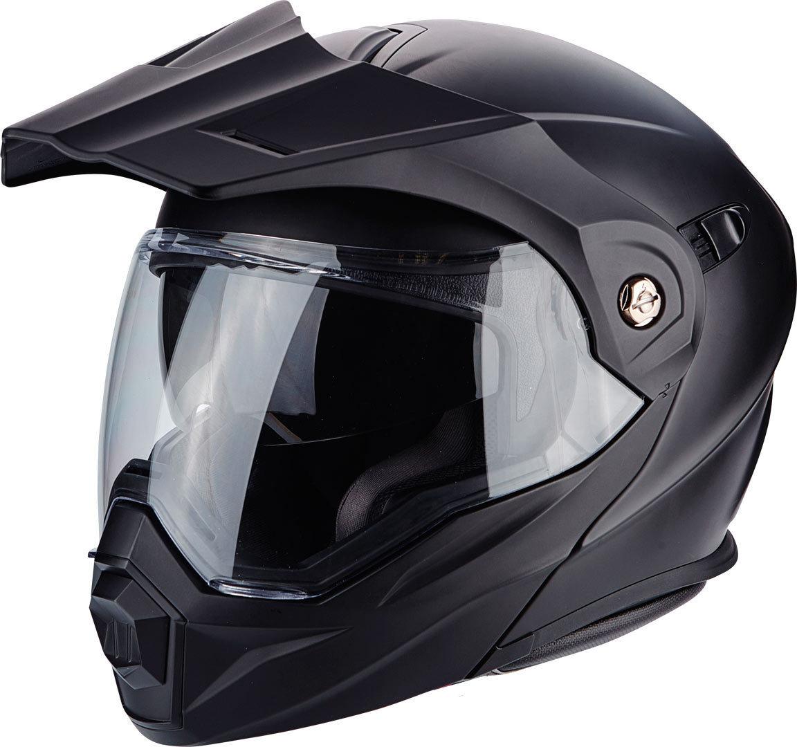 Scorpion ADX-1 Solid Enduro Klapphelm, schwarz, Größe XS 54 55, schwarz, Größe XS 54 55