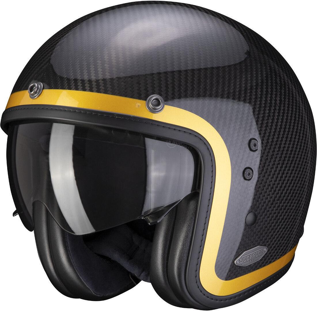 Scorpion Belfast Carbon Lofty Jethelm, carbon-gelb, Größe S, carbon-gelb, Größe S