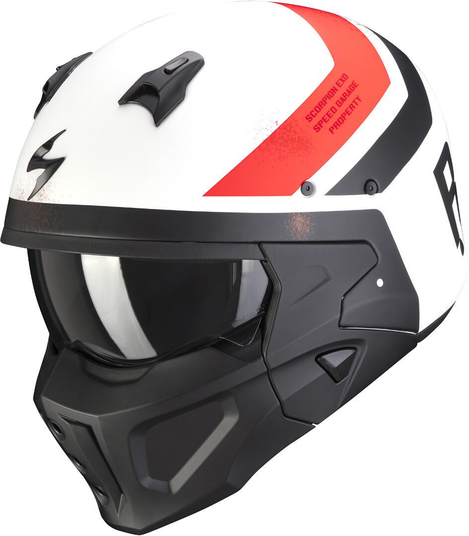 Scorpion Covert-X T-Rust Helm, weiss-rot, Größe XL, weiss-rot, Größe XL