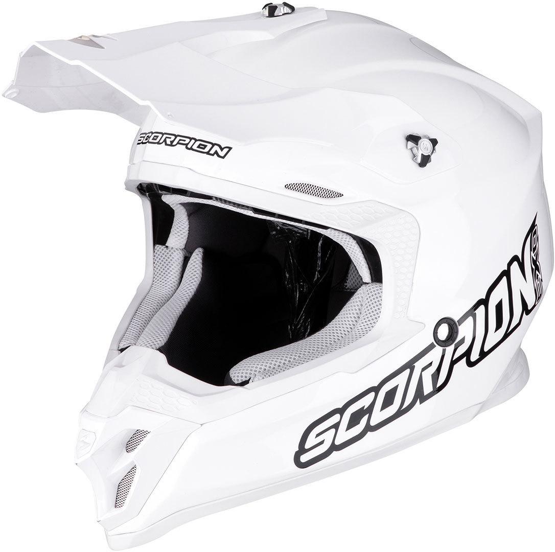 Scorpion VX-16 Air Motocross Helm, weiss, Größe XS, weiss, Größe XS