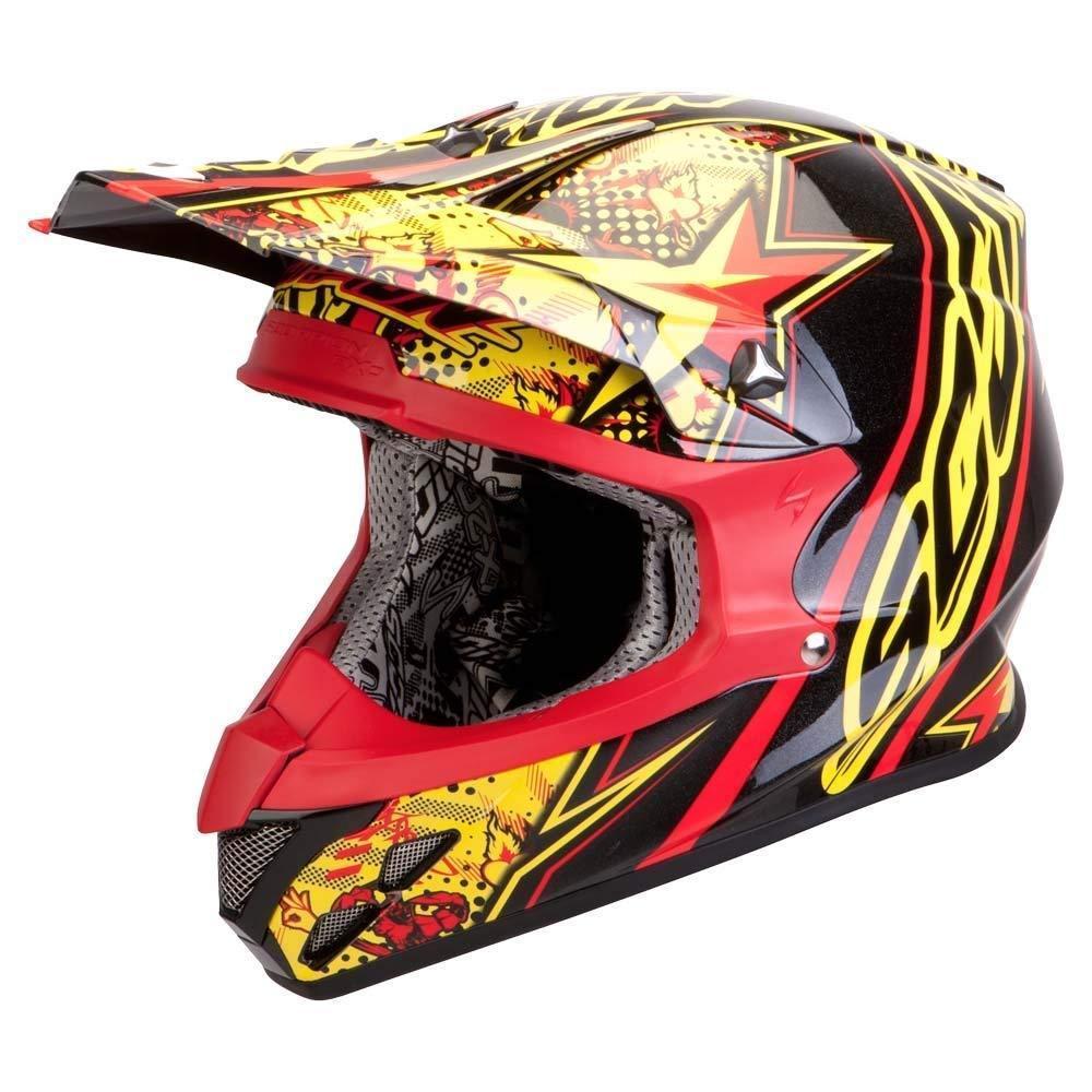 Scorpion VX-20 Air Win Win Crosshelm, schwarz-rot-gelb, Größe S, schwarz-rot-gelb, Größe S