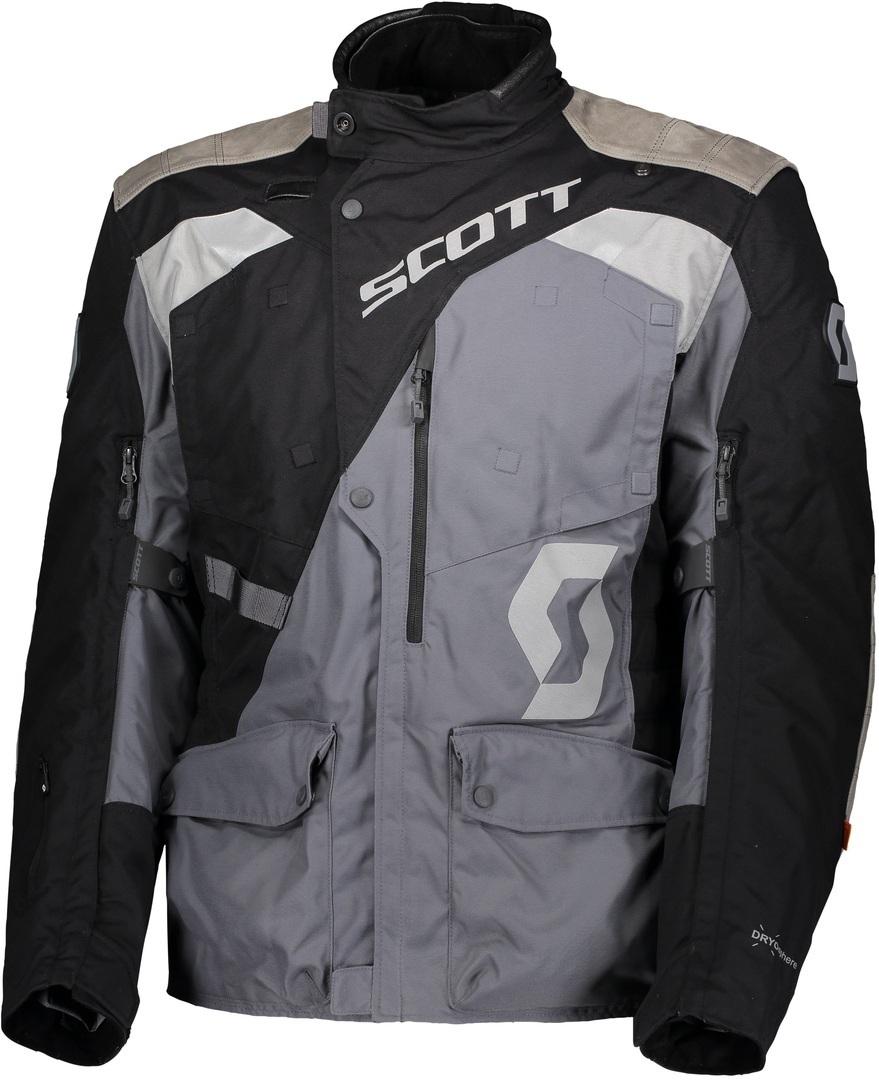 Scott Dualraid Dryo Motorrad Textiljacke, schwarz-grau, Größe 4XL, schwarz-grau, Größe 4XL