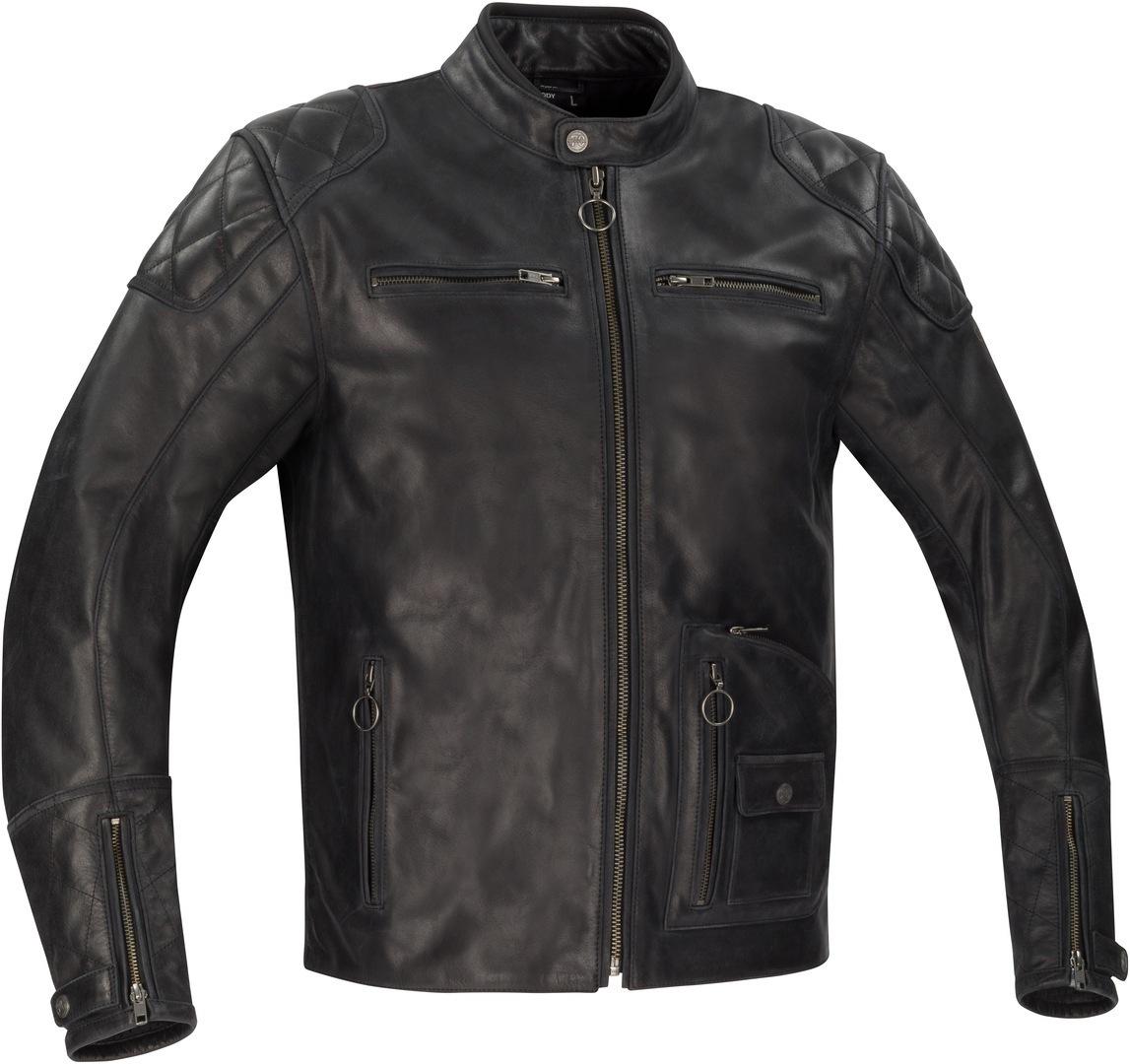 Segura Madisson Motorrad Lederjacke, schwarz, Größe S, schwarz, Größe S