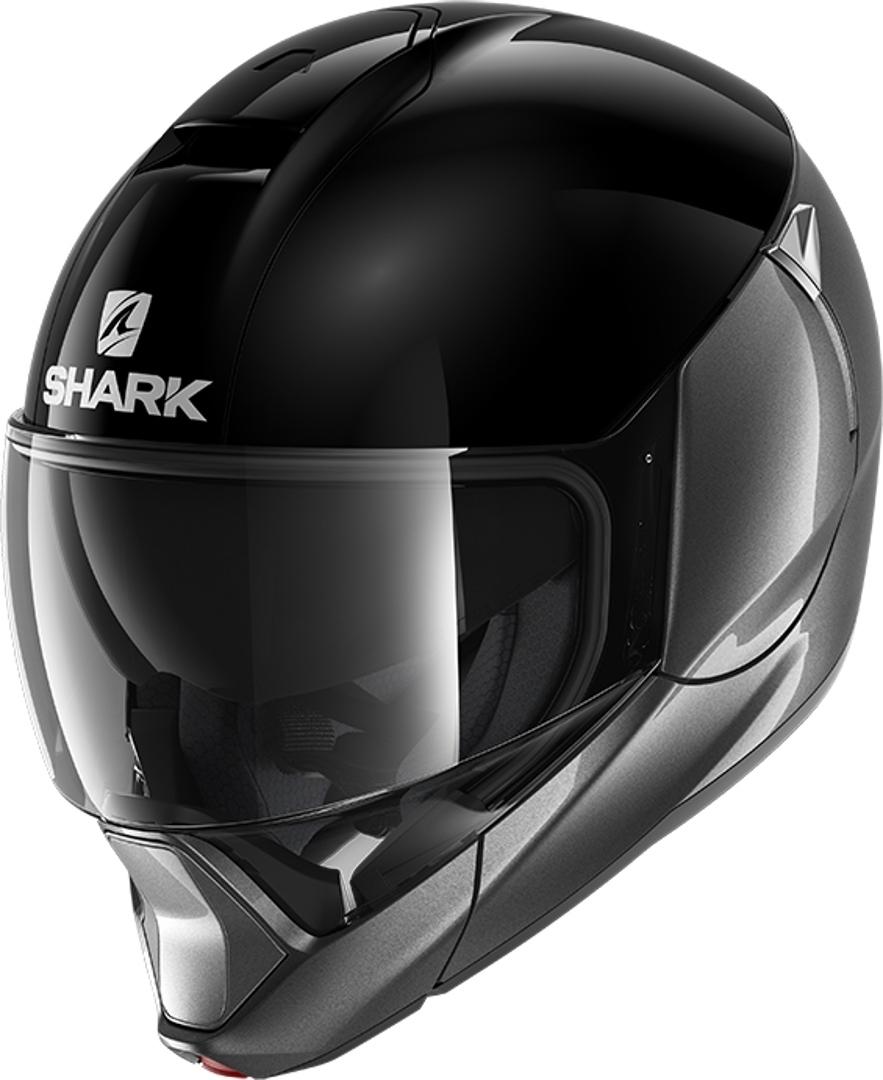Shark Evojet Blank Dual Helm, schwarz-silber, Größe XL, schwarz-silber, Größe XL