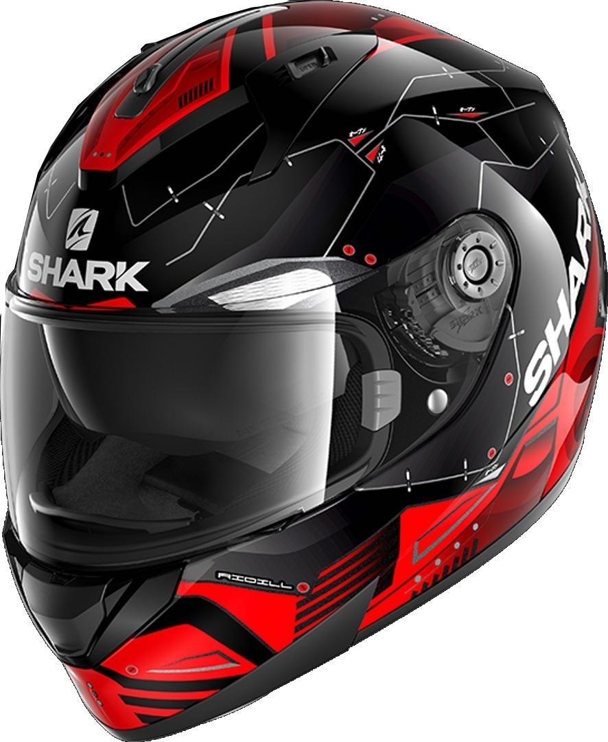Shark Ridill Mecca Helm, schwarz-rot, Größe S, schwarz-rot, Größe S