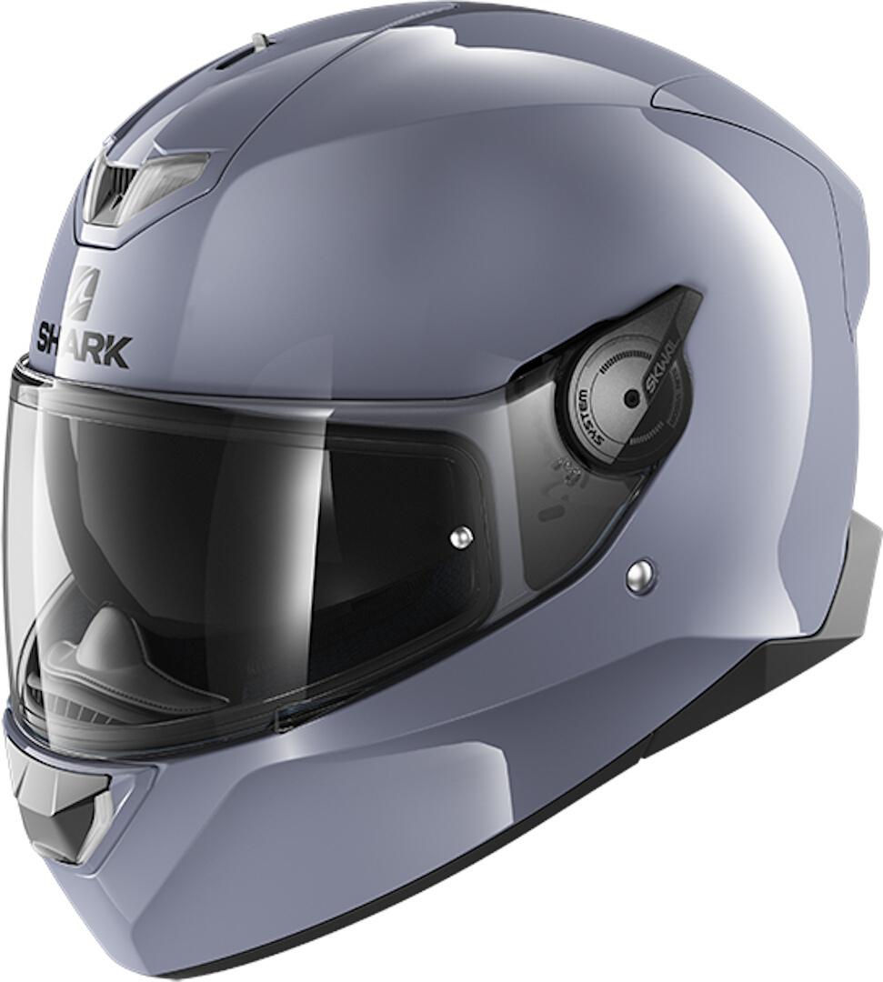 Shark Skwal 2 Blank LED Helm, grau, Größe S, grau, Größe S