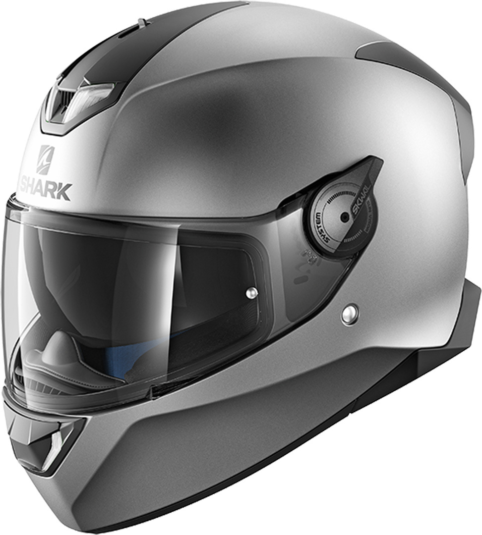 Shark Skwal 2 Blank Mat LED Helm, silber, Größe XL, silber, Größe XL