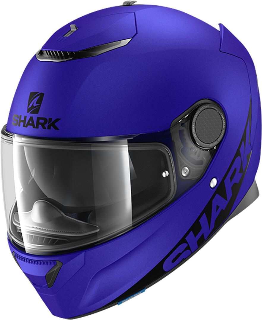 Shark Spartan Blank Mat Helm, blau, Größe M, blau, Größe M