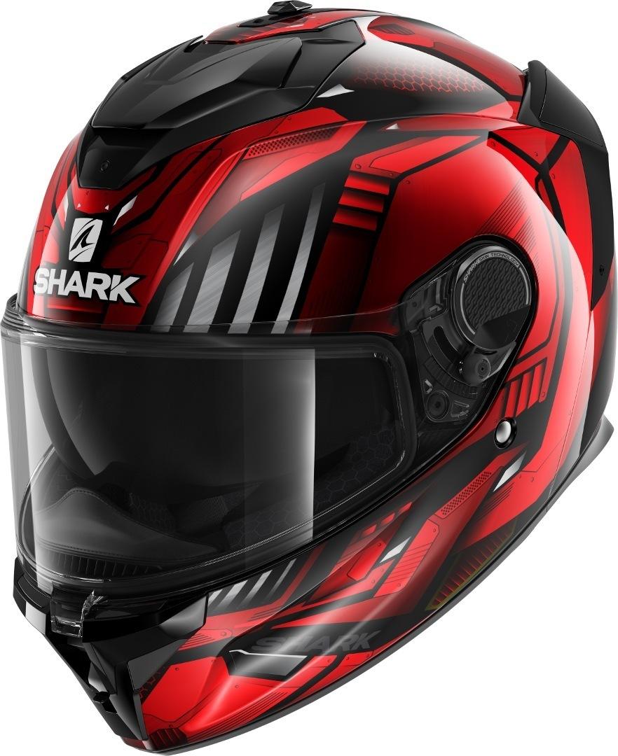 Shark Spartan GT Replikan Helm, schwarz-rot, Größe 2XL, schwarz-rot, Größe 2XL