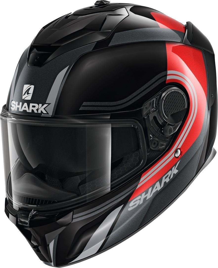 Shark Spartan GT Tracker Helm, schwarz-rot, Größe L, schwarz-rot, Größe L