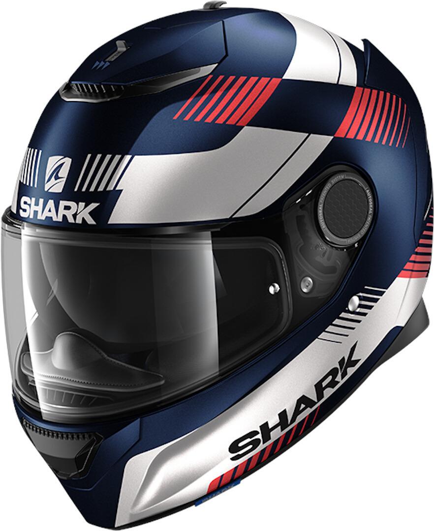 Shark Spartan Strad Integralhelm, rot-blau, Größe S, rot-blau, Größe S