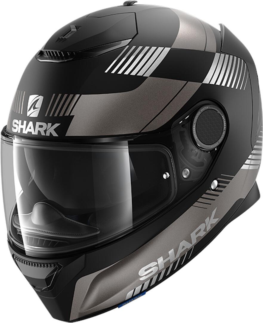 Shark Spartan Strad Integralhelm, schwarz-grau, Größe M, schwarz-grau, Größe M