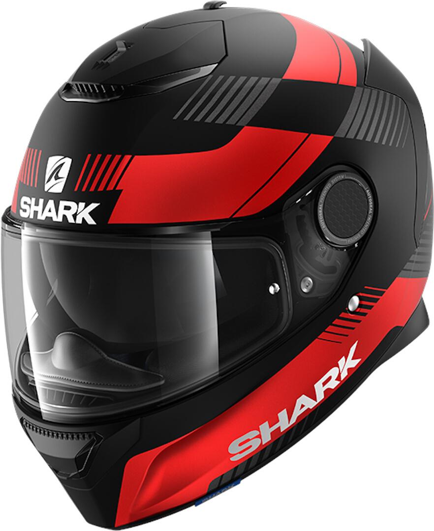 Shark Spartan Strad Integralhelm, schwarz-rot, Größe 2XL, schwarz-rot, Größe 2XL