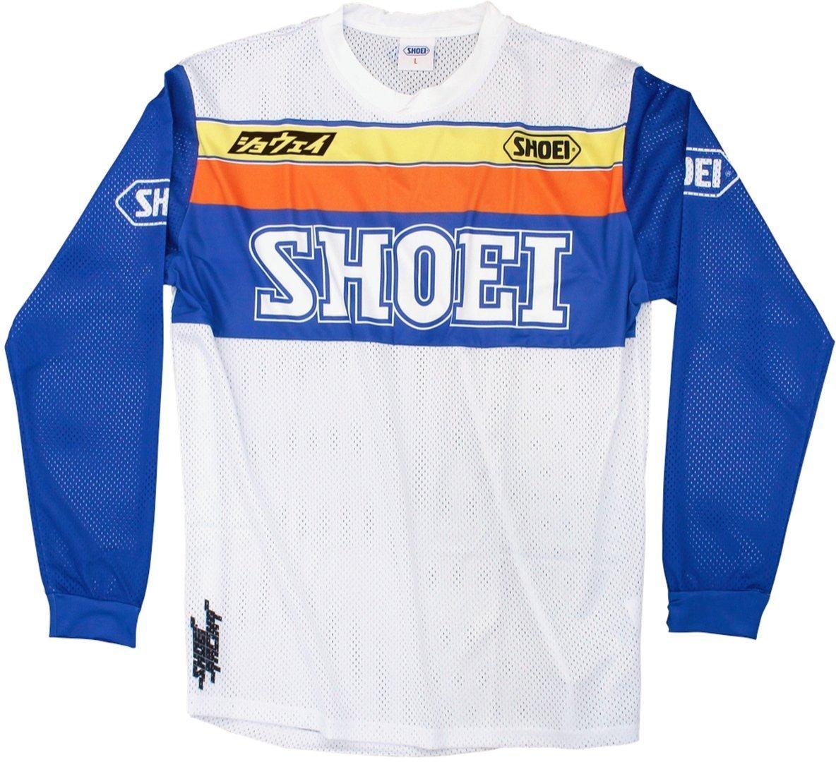 Shoei Equation Motocross Jersey, weiss-blau-orange, Größe L, weiss-blau-orange, Größe L