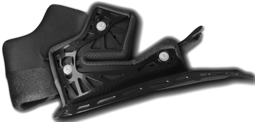 Shoei RYD Wangenpolster, schwarz, Größe 43 43 mm, schwarz, Größe 43 43 mm