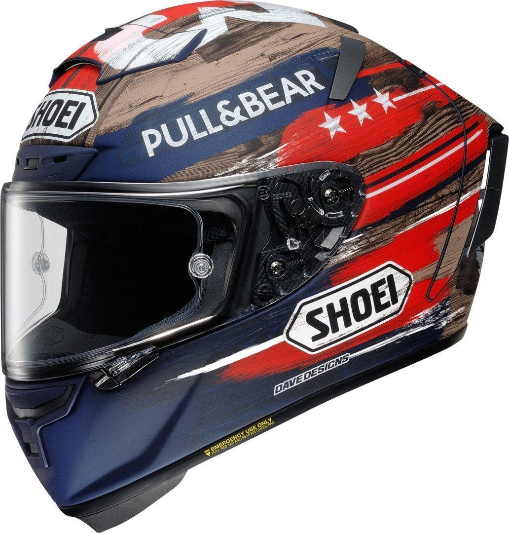 Shoei X-Spirit 3 Marquez America TC-2 Limited Edition Helm, weiss-rot-blau, Größe XS, weiss-rot-blau, Größe XS