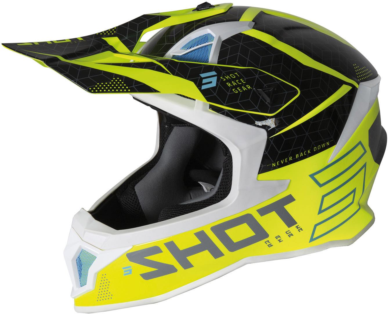 Shot Lite Core Motocross Helm, gelb, Größe XS, gelb, Größe XS