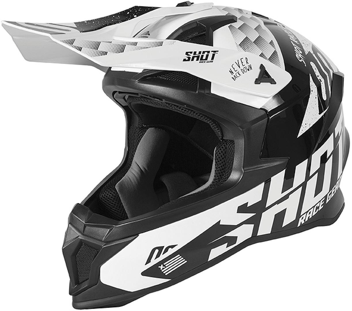 Shot Lite Rush Motocross Helm, schwarz, Größe XS, schwarz, Größe XS
