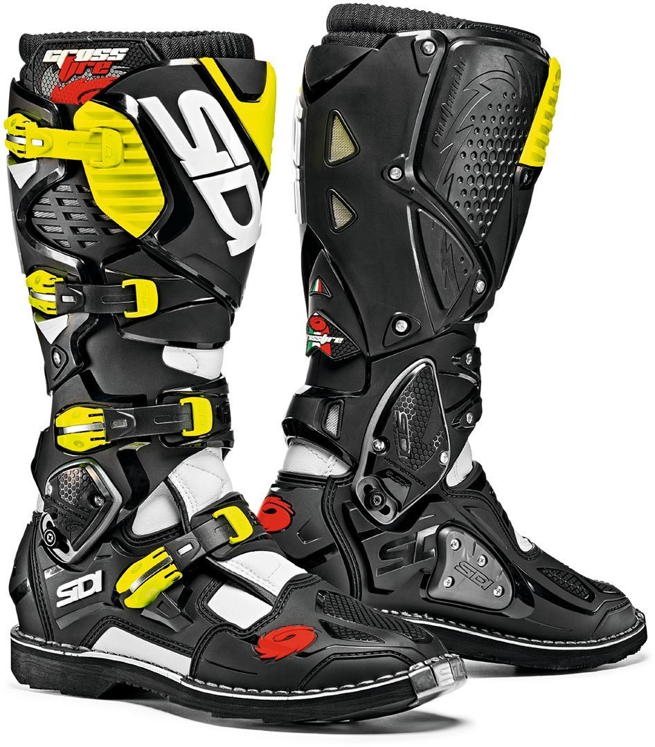 Sidi Crossfire 3 Motocross Stiefel, schwarz-gelb, Größe 44, schwarz-gelb, Größe 44