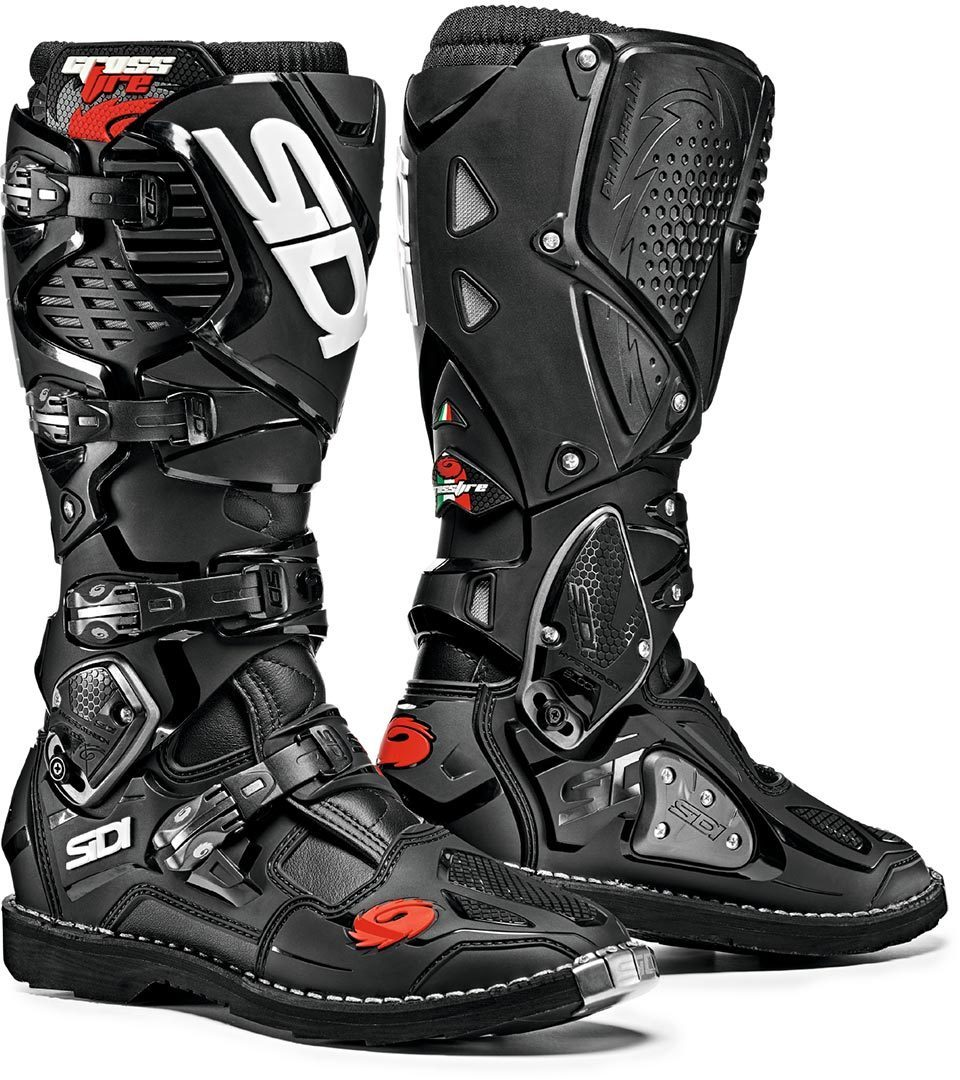 Sidi Crossfire 3 Motocross Stiefel, schwarz, Größe 42, schwarz, Größe 42