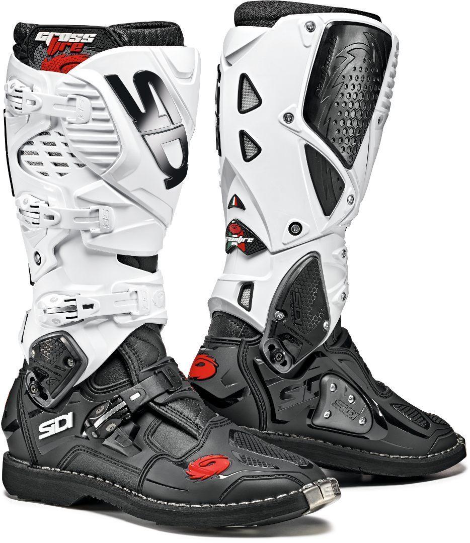 Sidi Crossfire 3 Motocross Stiefel, schwarz-weiss, Größe 50, schwarz-weiss, Größe 50