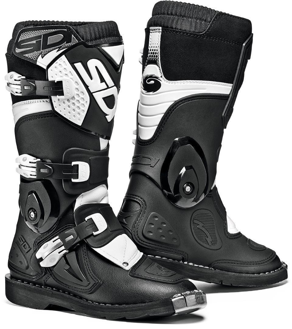 Sidi Flame Kinder Motocross Stiefel, schwarz-weiss, Größe 33, schwarz-weiss, Größe 33
