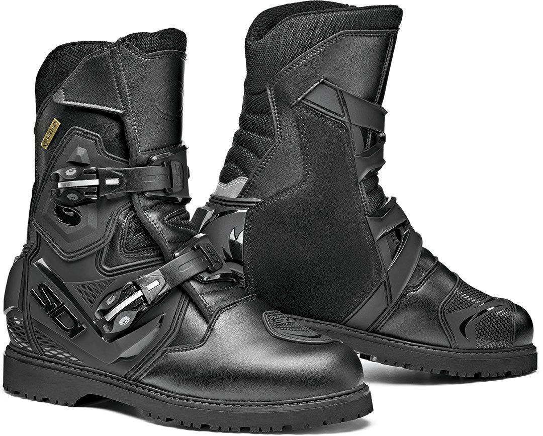 Sidi Mid Adventure 2 Gore-Tex Motorradstiefel, schwarz, Größe 49, schwarz, Größe 49