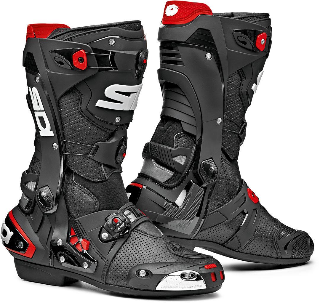 Sidi Rex Air Motorradstiefel, schwarz-rot, Größe 42, schwarz-rot, Größe 42