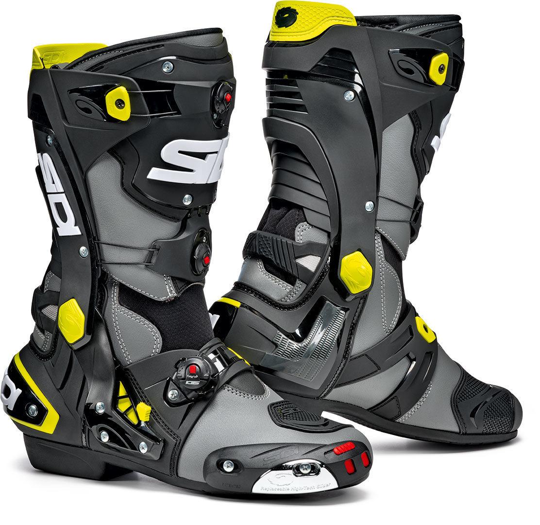 Sidi Rex Motorradstiefel, grau-gelb, Größe 44, grau-gelb, Größe 44