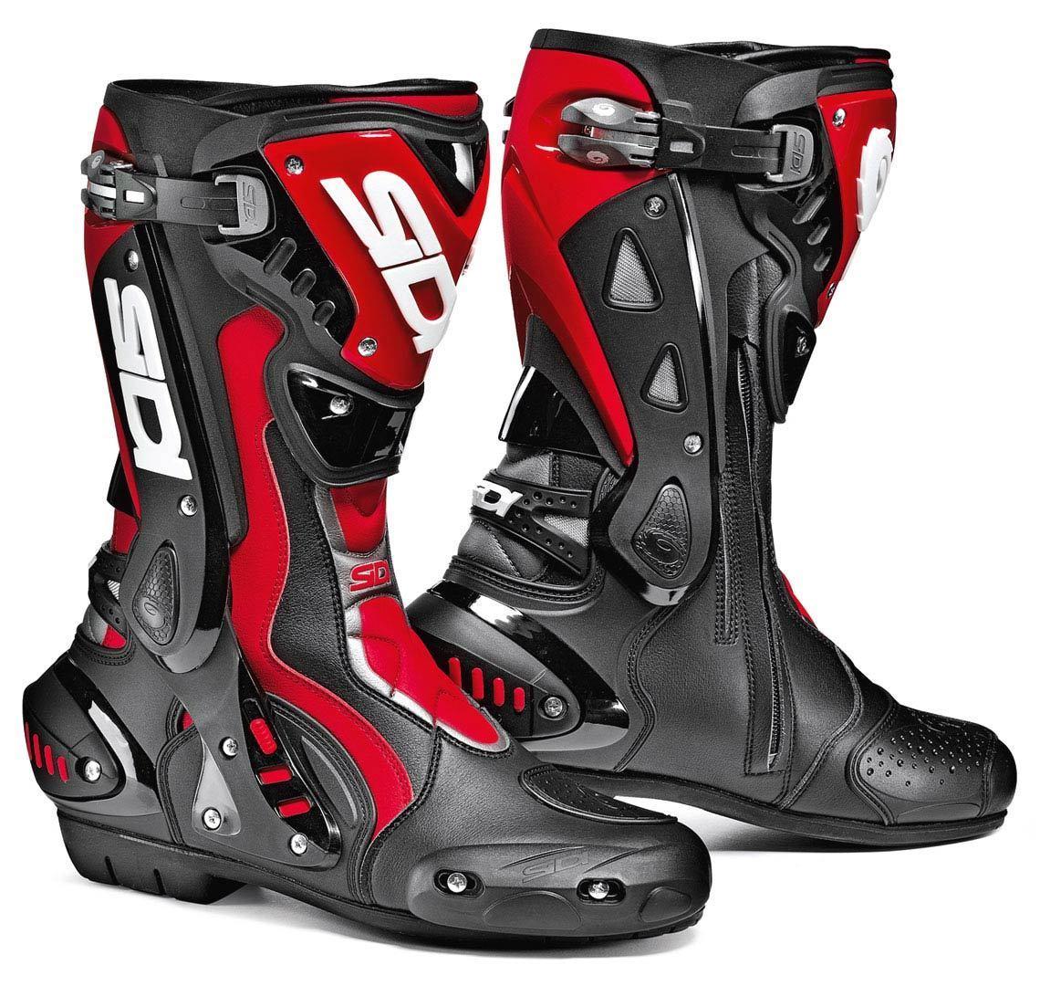 Sidi ST Motorradstiefel, schwarz-rot, Größe 43, schwarz-rot, Größe 43
