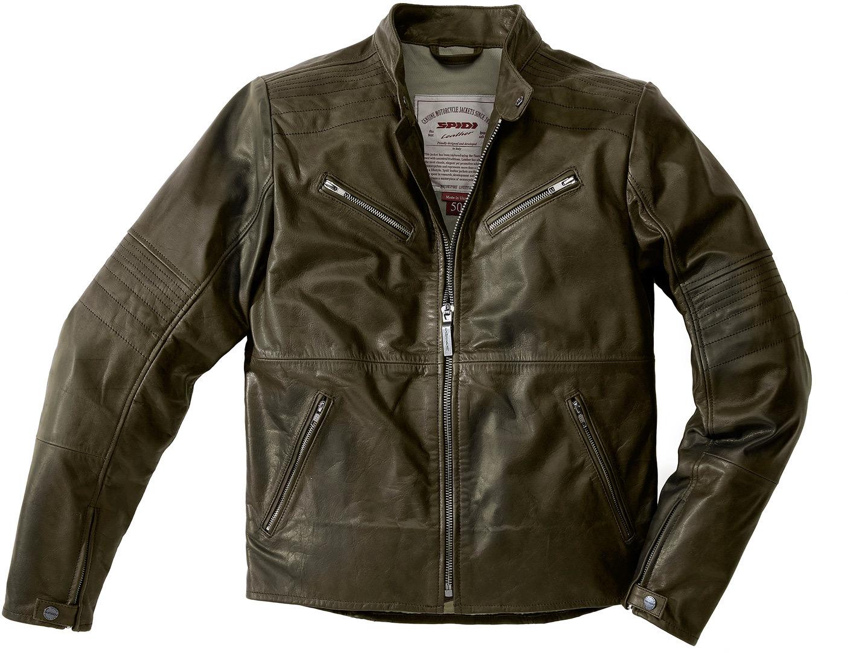 Spidi Garage Motorrad Lederjacke, grau, Größe 56, grau, Größe 56