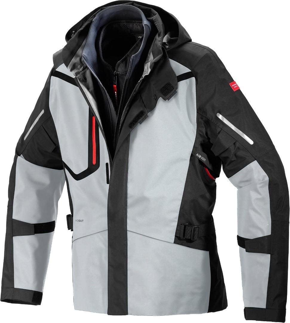 Spidi Mission-T H2Out Step-InArmor Motorrad Textiljacke, schwarz-grau, Größe M, schwarz-grau, Größe M