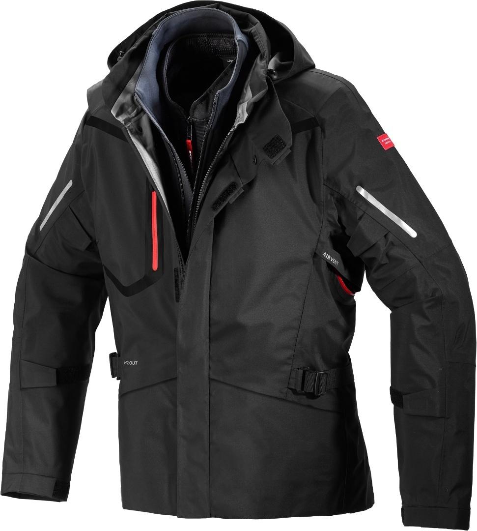 Spidi Mission-T H2Out Step-InArmor Motorrad Textiljacke, schwarz, Größe XL, schwarz, Größe XL