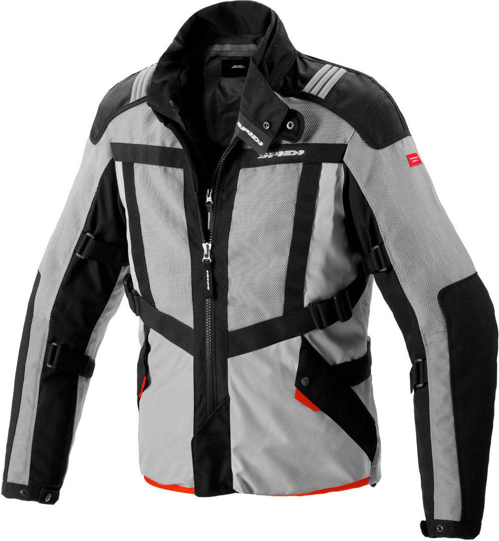 Spidi Netrunner H2Out Motorrad Textiljacke, schwarz-grau, Größe L, schwarz-grau, Größe L