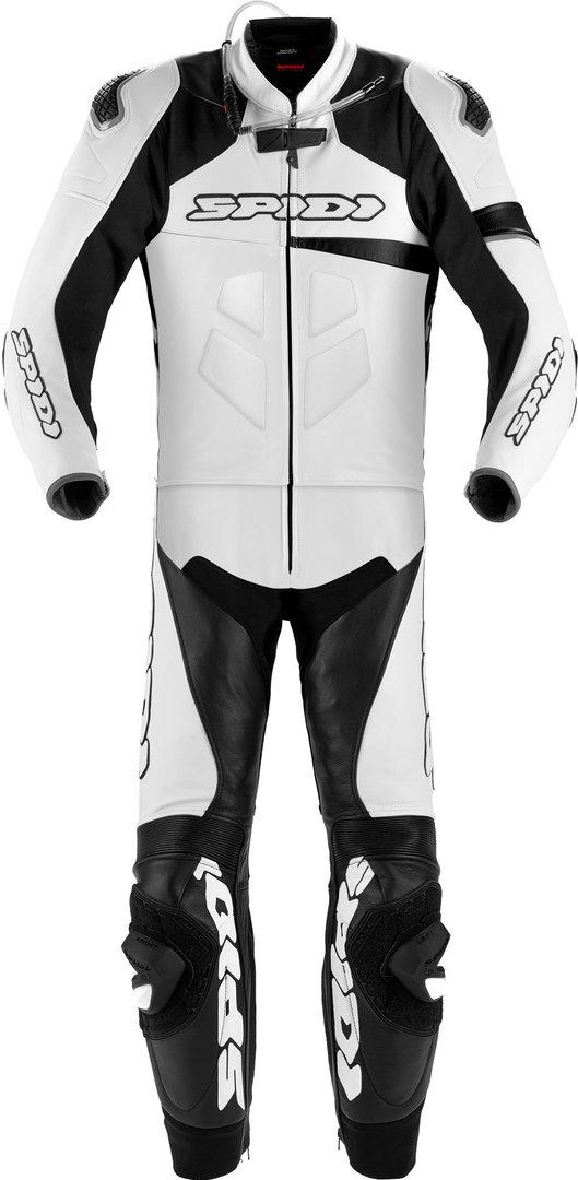 Spidi Race Warrior Touring Lang 2-Teiler Motorrad Lederkombi, schwarz-weiss, Größe 46, schwarz-weiss, Größe 46