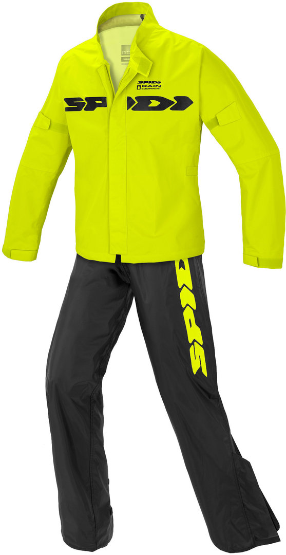 Spidi Sport Rain Kit 2-Teiler Motorrad Regenkombi, schwarz-gelb, Größe 2XL, schwarz-gelb, Größe 2XL