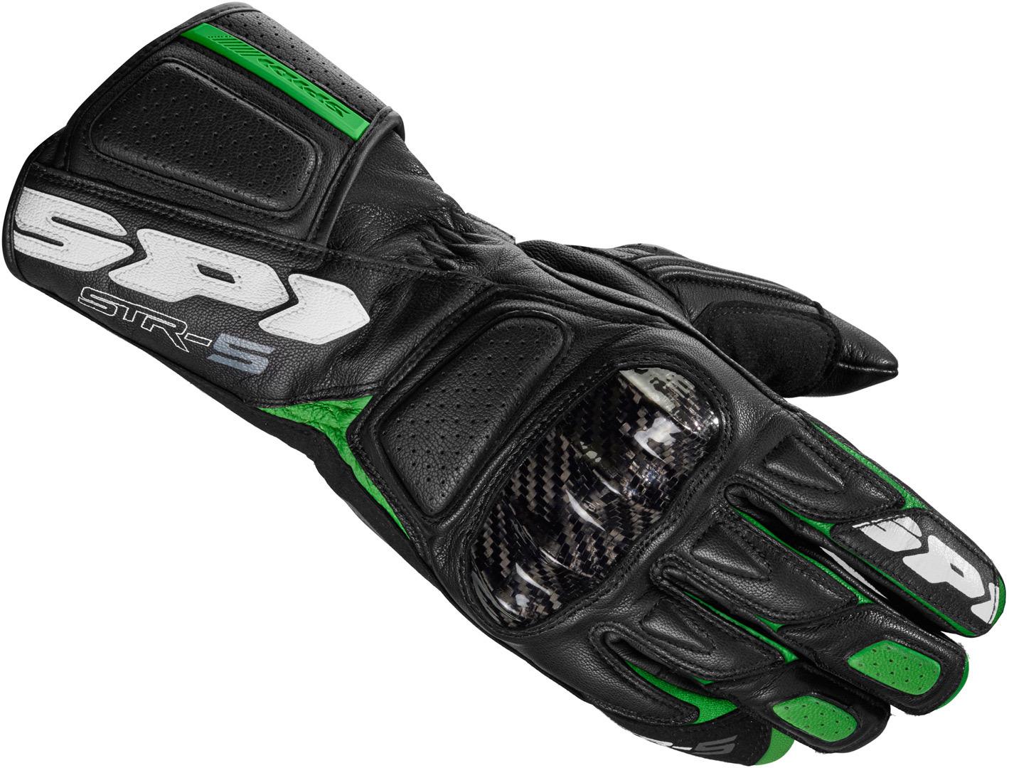 Spidi STR-5 Handschuhe, schwarz-grün, Größe 2XL, schwarz-grün, Größe 2XL
