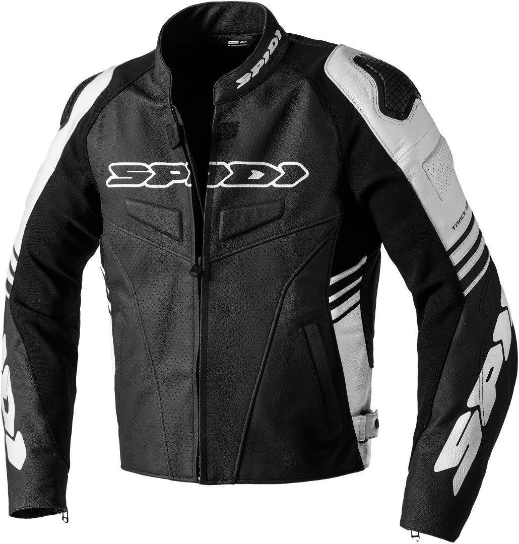 Spidi Track Warrior Motorrad Textiljacke, schwarz-weiss, Größe 48, schwarz-weiss, Größe 48