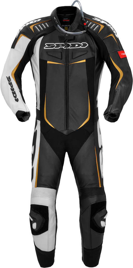 Spidi Track Wind Pro 1-Teiler Motorrad Lederkombi, schwarz-gold, Größe 56, schwarz-gold, Größe 56