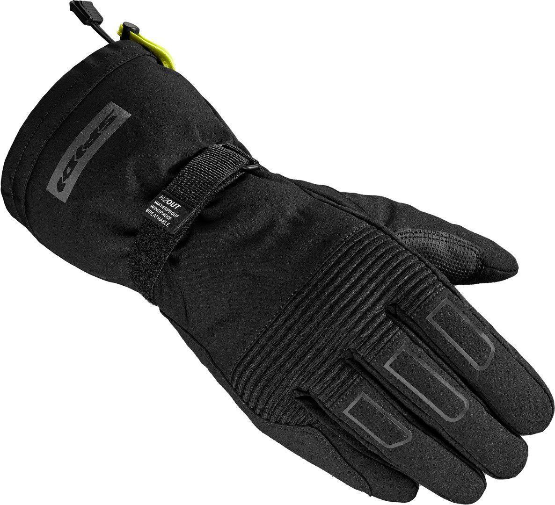 Spidi Wintertourer H2Out wasserdichte Motorrad Handschuhe, schwarz, Größe S, schwarz, Größe S
