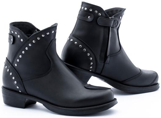 Stylmartin Pearl Rock Damen Motorradstiefel, schwarz, Größe 40, schwarz, Größe 40