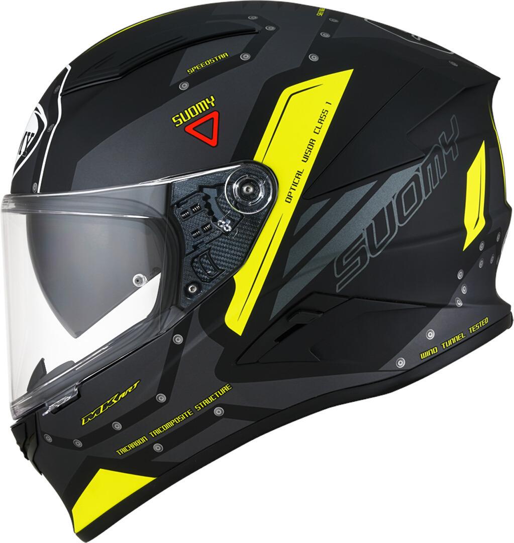 Suomy Speedstar Airplane Helm, schwarz-gelb, Größe S, schwarz-gelb, Größe S