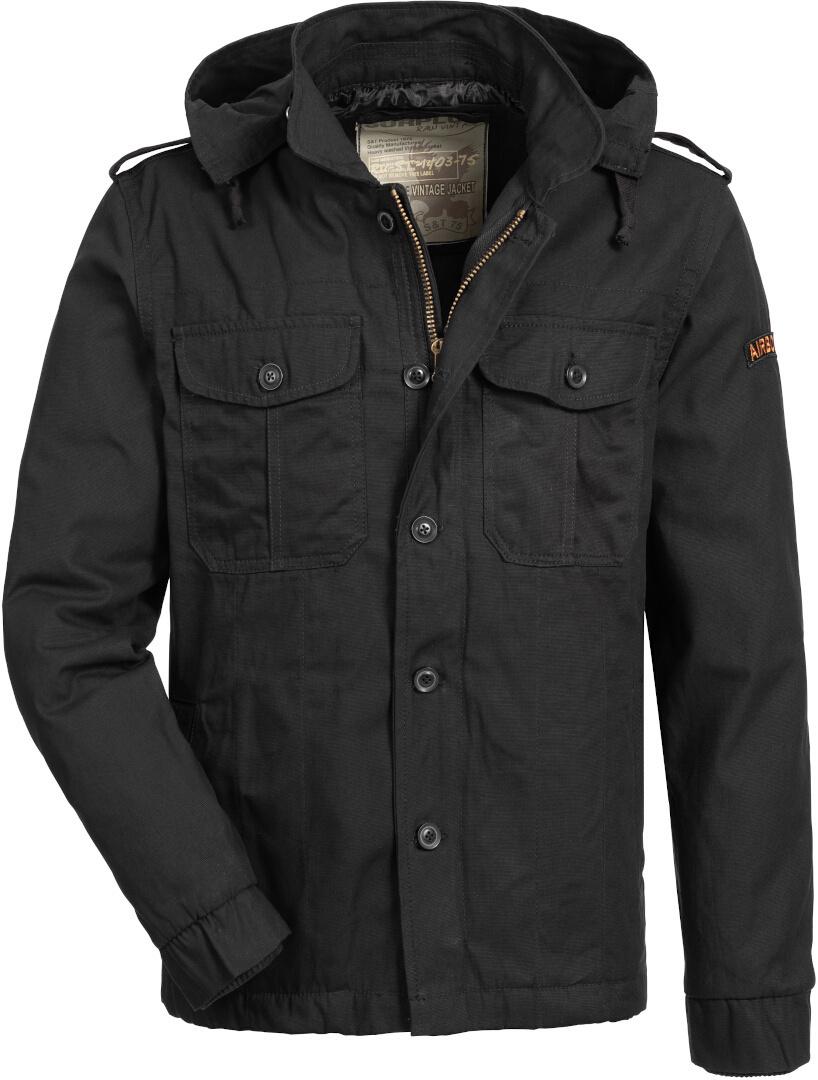 Surplus Airborne Jacke, schwarz, Größe L, schwarz, Größe L