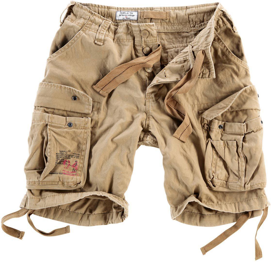 Surplus Airborne Vintage Shorts, beige, Größe 4XL, beige, Größe 4XL