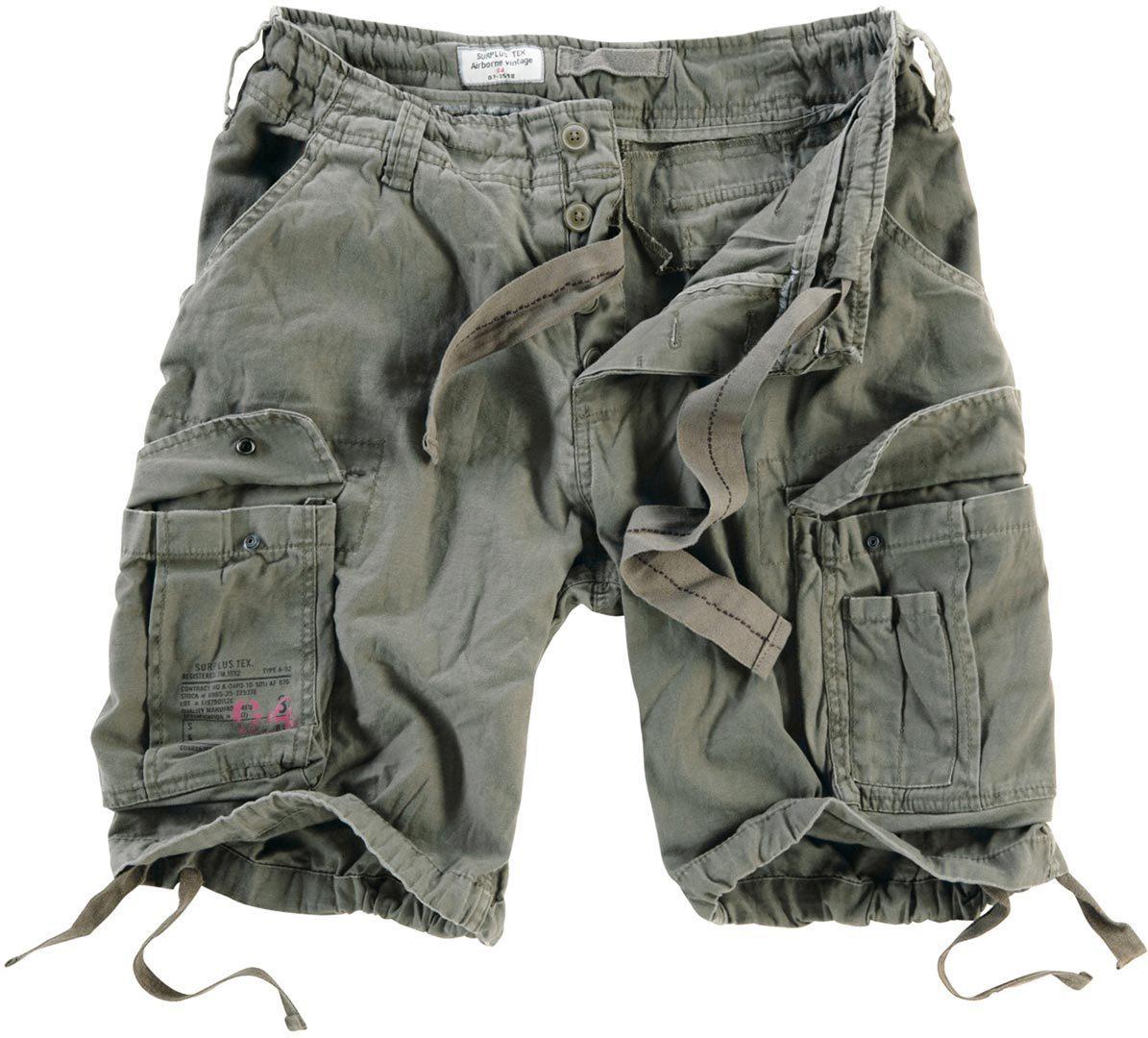 Surplus Airborne Vintage Shorts, grün, Größe L, grün, Größe L